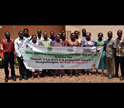 Atelier de lancement du programme 2017-2021 WSM-DGD du BURKINA FASO